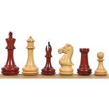 """4.1"""" Chamfered Base Staunton Chess Pieces Only set- Triple Weighted Bud RoseWood"""