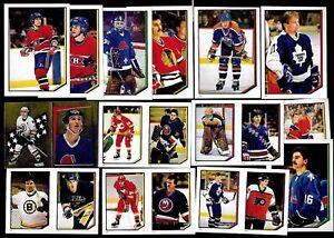 1986-87 OPC 86-87 O PEE CHEE NHL HOCKEY STICKER 1-253 SEE LIST