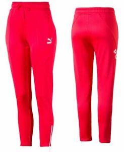 Puma XTG 94 Tracksuit Bottoms Pant Joggers Red Womens