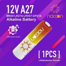 1x Naccon 12V A27 27A MN20 LR27A LRV07  GP27A  Alkaline Battery