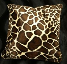 Giraffe Pillow Cover Faux Fur Pillow 16x16 (set of 2)