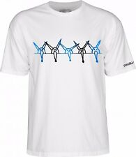 Powell Peralta VATO RAT BAND Skateboard Shirt WHITE XL