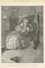 1886 - Antique Print FINE ART World Went Well Then Walter Besant Bench Hat (047)