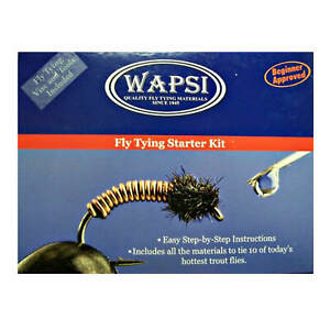Wapsi Fly Tying Starter Begnner Kit w/ Handbook Includes Vise and Tools