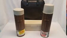 Vintage King Seeley Thermos Wood Grain 4 Piece Picnic Set Norwich CT