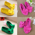 Kids Girls Princess Shoes Bow Candy Color Soft Flat Loafers Sandals Slip On