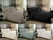 Caprice Luxurious Duvet Quilt Cover & Pillowcase Bedding Set Black White Silver