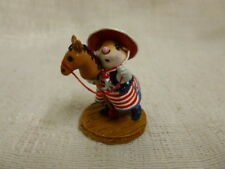 Wee Forest Folk Clippity Clop Fourth of July Special M-290a Retired Horse Cowboy