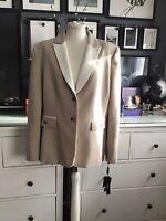 Tahari 18 Blazer Jacket Beige New With Tags Suit