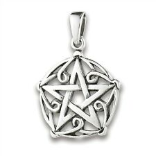 Sterling Silver Celtic Knotwork Pentagram Pendant Charm Jewelry 925