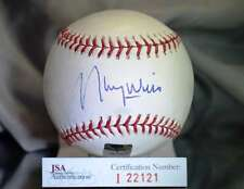 MAURY WILLS JSA CERTED MAJOR LEAGUE AUTOGRAPH BASEBALL AUTHENTIC SIGNeD