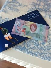 New Uncirculated Ulster Bank  George Best £5 Note with wallet