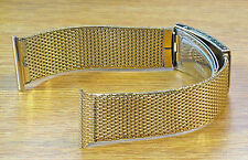 Duchess USA 20mm 1960s Gold Mesh 1/40 10K R.G.P New Old Vintage Watch Band