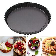 Flan Tin Tart Pie Pan Fluted Cake Baking Tray Non Stick Baking Mold Bakeware