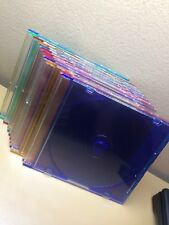 Lot of 10 x CD/DVD Blank Cases w/Colorful Tray Single Disc Casé