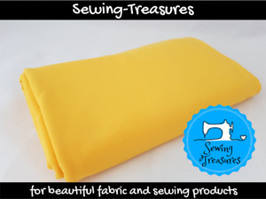 Yellow ~ Solid Plain Cotton Lycra Fabric Stretch Knit Fabric