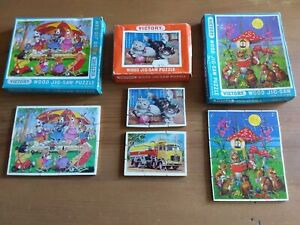 Vintage Wooden Jigsaws. Victory Children's Puzzles. Lot of 4. Complete.