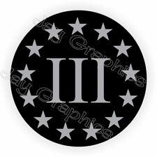 Hard Hat Sticker | 3% PERCENTER | Militia Stealthy Black Ops Hard Hat Sticker