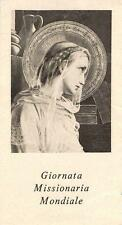 """OLD nice french rare Holy cards from 1920""""H5704"""" giornata missionaria mondiale"""