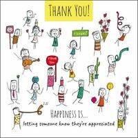 Happiness Is... Thank You You're Appreciated Greeting Card Humour Cards