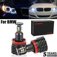2X Error Free LED 80W Angel Eyes Halo Light H8 Bulb For BMW E90 E92 E82 E60 E70