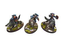 SPACE WOLVES 3 Thunderwolf Cavalry #1 PRO PAINTED Warhammer 40K Thunderwolves