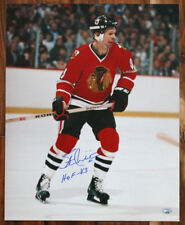 Stan Mikita SIGNED 16x20 Photo + HOF 83 Chicago Blackhawks PSA/DNA AUTOGRAPHED