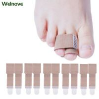 20pcs Toe Splint Straightener Toe Wrap Anti-Slip Toe Brace for Hammer Toe D1179