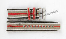 22mm Fabric Canvas Leather Watch Band Strap for Burberry Endurance BU7600 BU7601