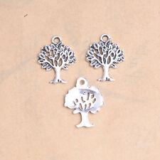 Tibet Sliver Alloy Tree of Life Charms Bracelet Necklace Pendants Findings DK12