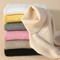 Women Cashmere Sweater Autumn Winter Knitted Turtleneck Pullover Wool Warm
