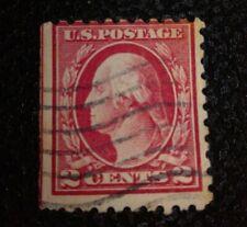 USA stamp 2 cent Red linea raro G . Washington perforato 10red linea sinistra