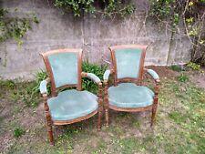 Paire de fauteuils anciens de style directoire restauration
