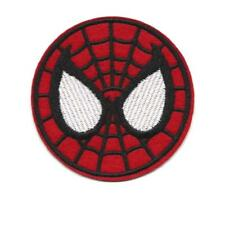 """SPIDERMAN IRON ON PATCH 3"""" Embroidered Applique Round Red Superhero Avengers"""