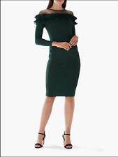 BNWT COAST EMERALD GREEN RUFFLE KNIT BODYCON FRANCESCA DRESS UK 16