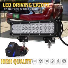 12INCH LED Work Light Bar Spot Flood Combo+Wiring Harness For Pickup Van ATV 12V