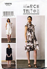 VOGUE SEWING PATTERN 8876 MISSES 8-16 MARCY TILTON LOOSE-FITTING DRESS W/ COLLAR