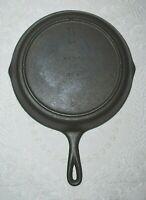 "Vintage #8 Three (3)  Notch (10 1/2"") Lodge Cast Iron Skillet - Restored USA"