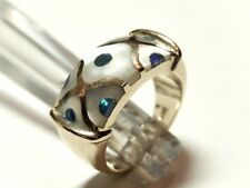14k Solid Yellow Gold  Mother of Pearl Ring 7