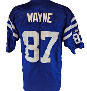 Mens Reebok NFL Indianapolis Colts Reggie Wayne #87 Blue 7009A Football Jersey