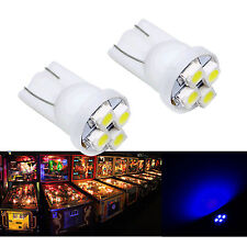 30x #555 T10 4SMD LED Pinball Machine Light Bulb Blue 6.3V P2