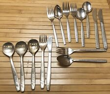 Lot Airline Silverware Mexicana & United Air Lines Spoons Forks Knives Flatware