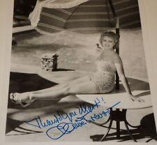 CLAIRE TREVOR /  8 X 10  B&W  AUTOGRAPHED  PIN-UP  PHOTO