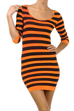 Stretch Tight Fitted Slim Fit Long Top Tunic Club Slip One Size BodyCon Dress