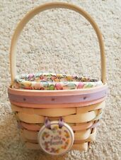 Longaberger 2000 Whitewashed Jelly Bean Small Easter Basket Combos