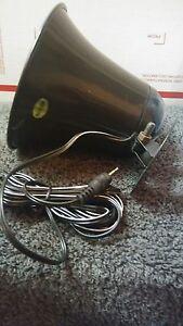 PA Speaker - Black - 3.5mm plug - Fits MOST CB Radios and many Marine Radios