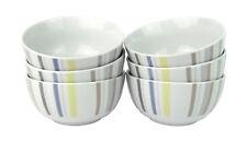 'LYN' 6 Stück Müslischalen aus Porzellan, dekoriert