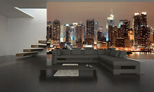 New York at Night Wall Mural Photo Wallpaper GIANT DECOR Paper Poster Free Paste