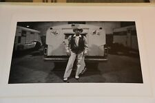 Vintage 8 x 10 Photo Rodeo Cowboy Trailer Back Stage Western Dress