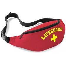 Lifeguard Red + Yellow Bum Bag - Fancy Dress Beach Wear Waist Belt Money Pouch